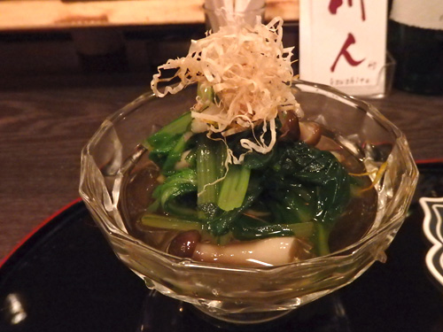 03小松菜と菊菜のおひたし