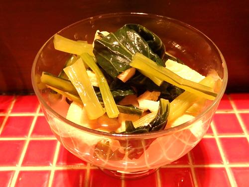 15京あげと小松菜の炊いたん