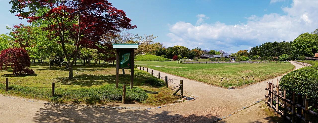 s-20160414 後楽園今日の春の千入り森と園内ワイド風景 (1)