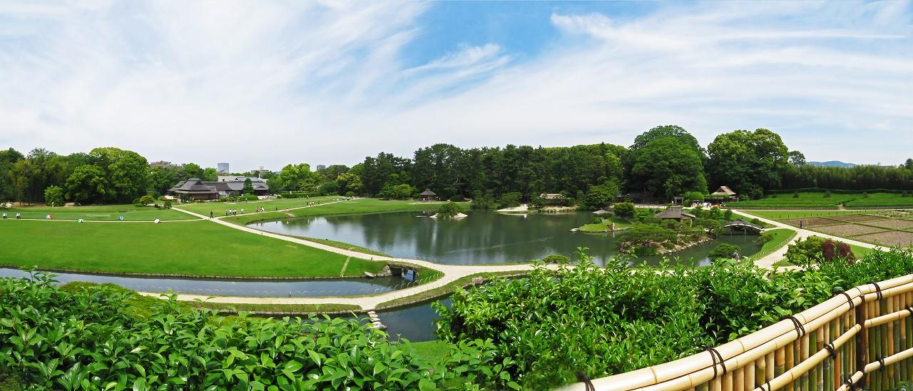 s-20160519 後楽園今日の唯心山頂上から眺めた園内ワイド風景 (1)