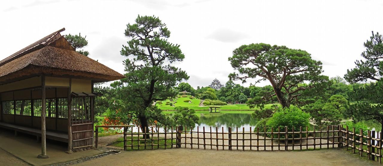 s-20160628 後楽園今日の観光定番位置から眺めた園内ワイド風景 (1)