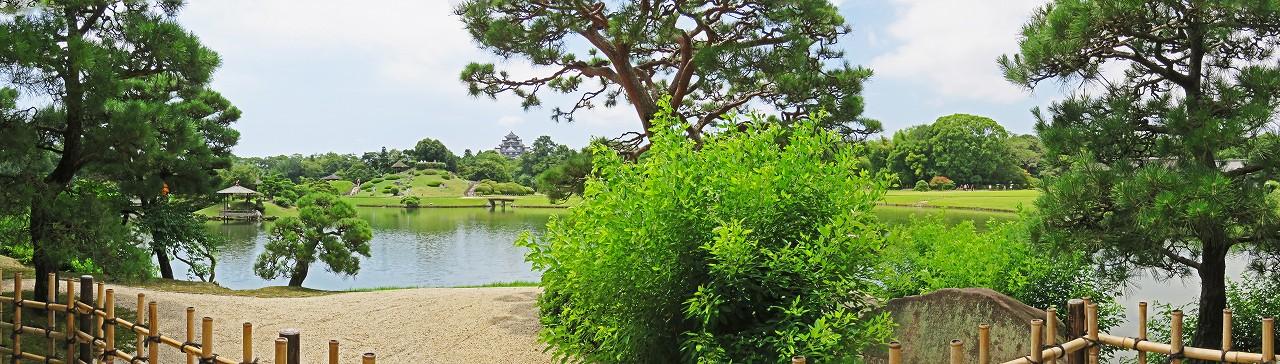s-20160721 後楽園今日の園内観光定番位置から眺めたワイド風景 (1)