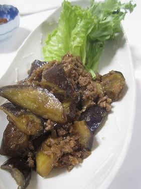 20160411 茄子とひき肉の生姜煮