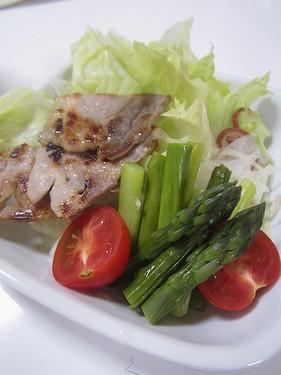 20160504 豚肉味噌漬けサラダ
