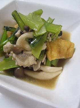 20160512 小松菜と厚揚げのオイスター煮