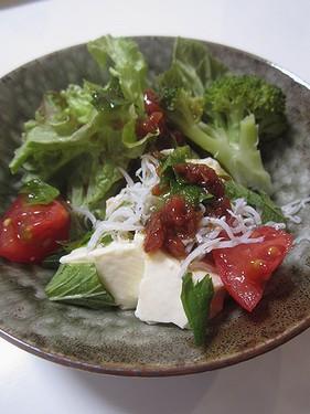 20160519 くずし豆腐の梅ドレ