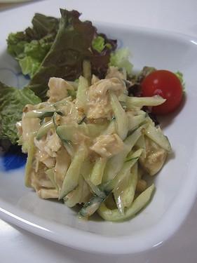 20160527 ささみときゅうりの胡麻サラダ