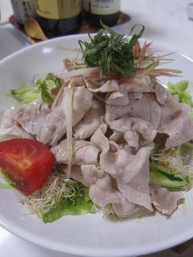20160711 豚しゃぶラー油サラダ