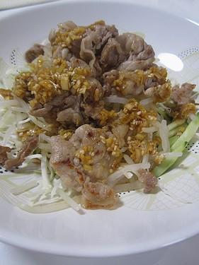 20160906 豚肉ソテーのねぎたれサラダ
