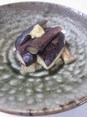 20160908蒸し茄子生姜醤油