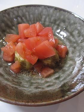 20160925 焼きナスのトマト和え