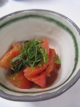 20160929 トマトの胡麻サラダ