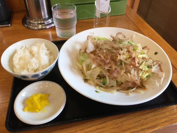野菜炒め定食3