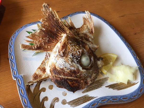 鯛の兜焼き4