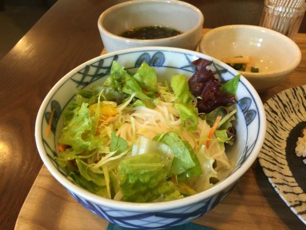グリーンサラダ素麺6