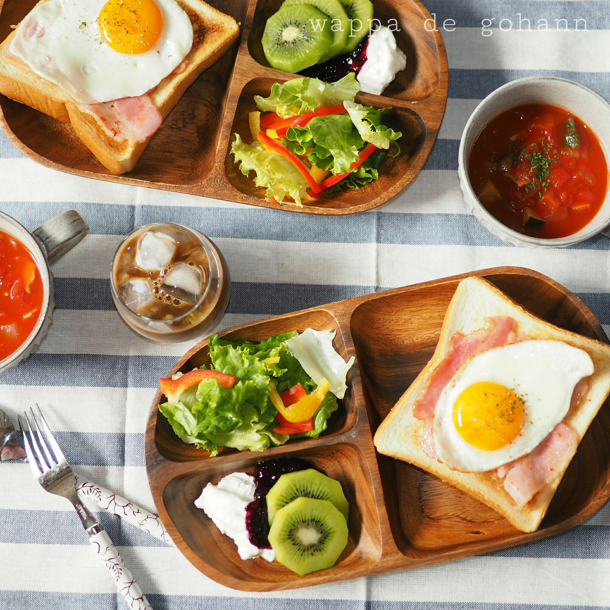 節約料理の朝ごはん