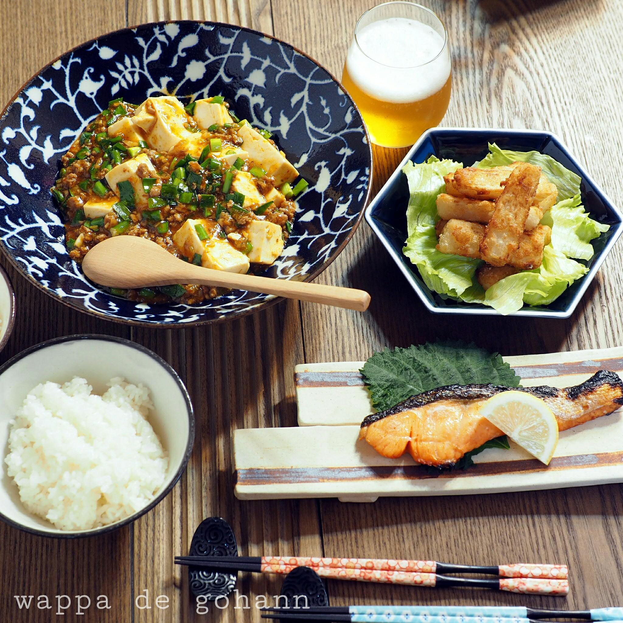 四川風麻婆豆腐の晩ごはん
