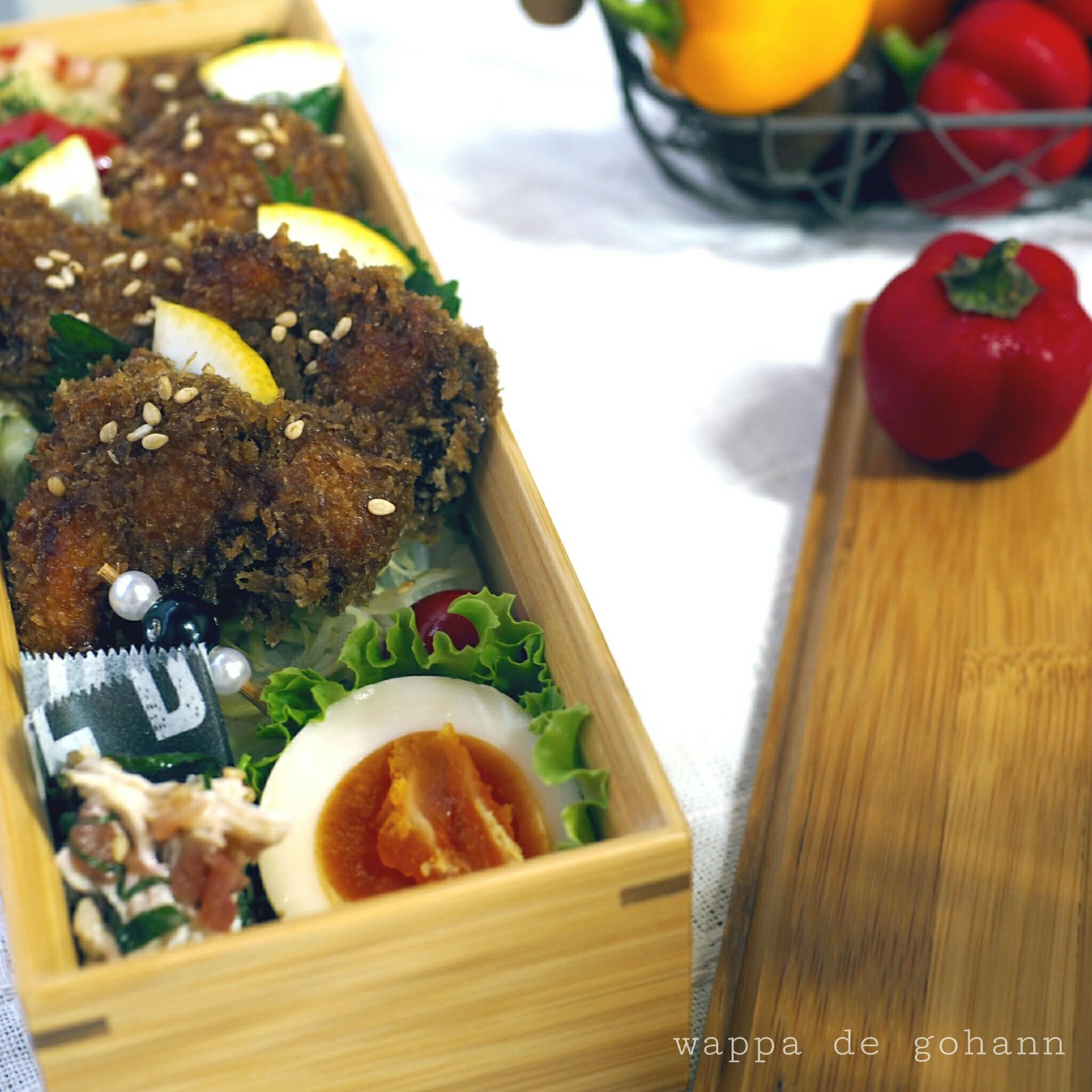 鶏胸肉deソースカツ丼弁当