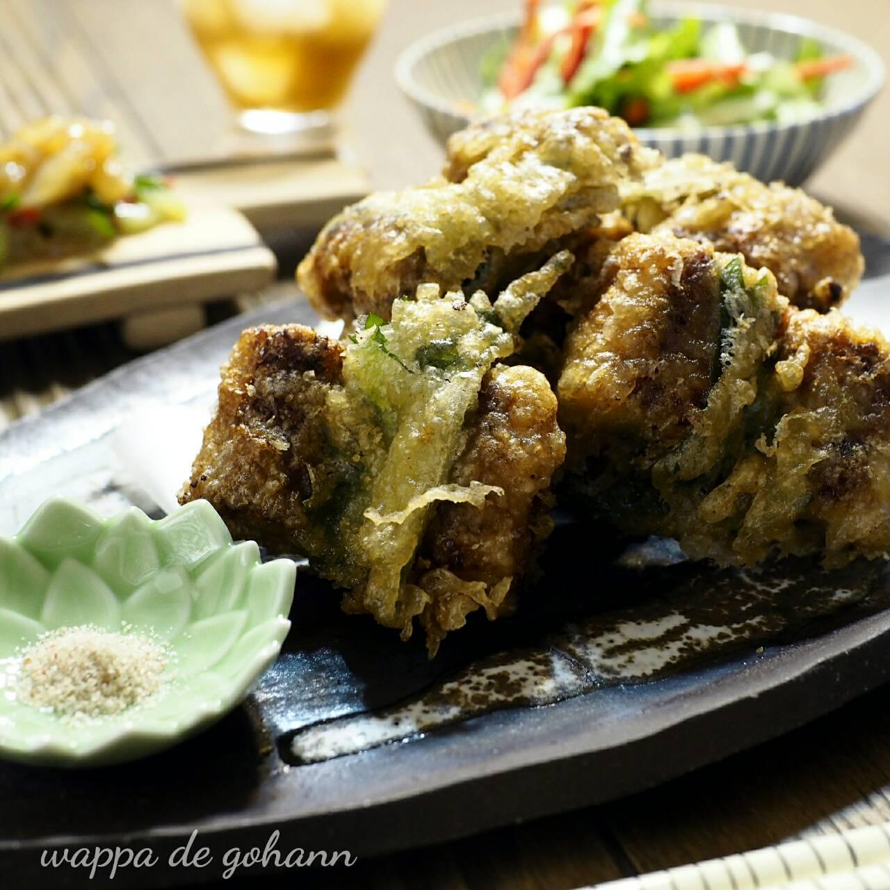 鰻の天ぷらの晩ごはん