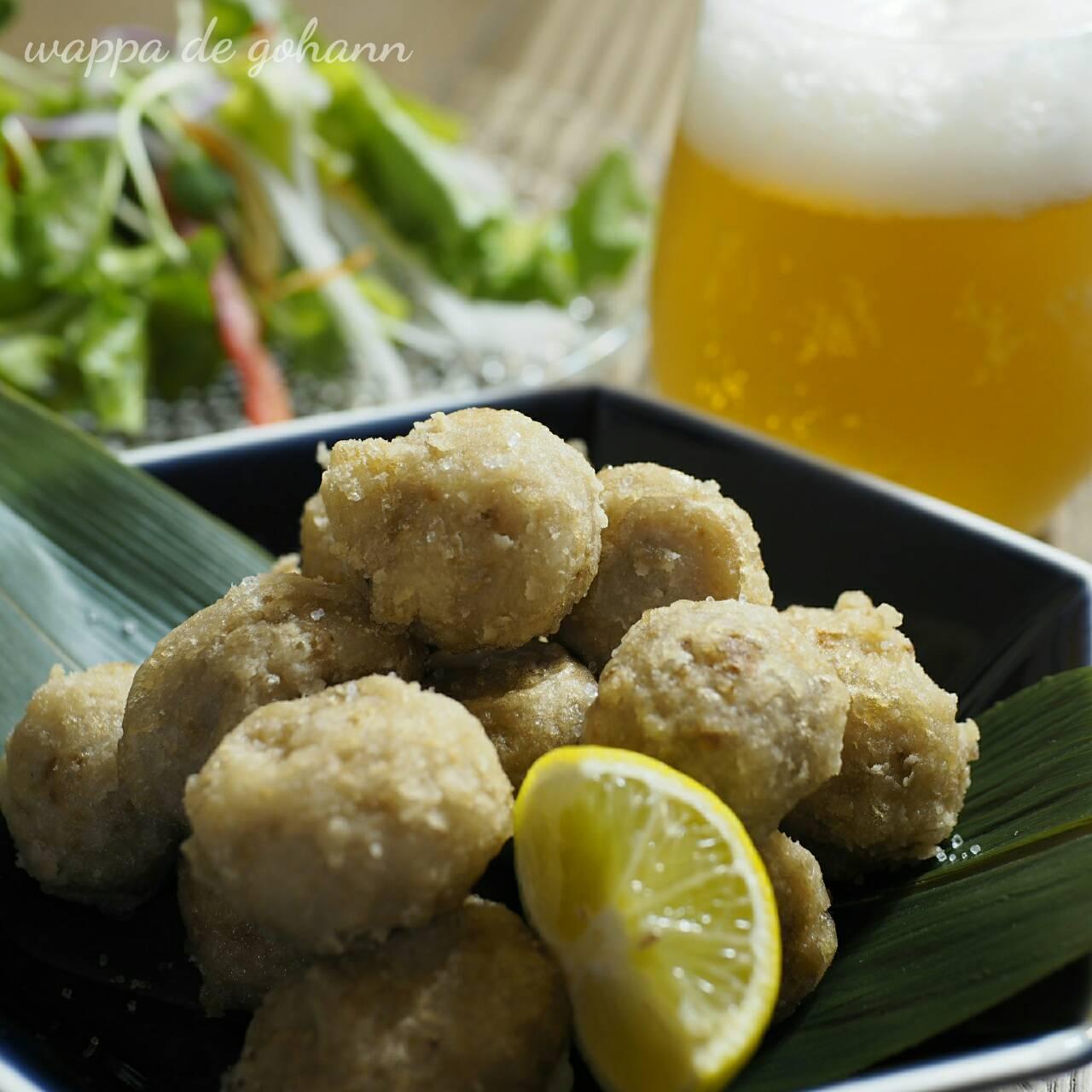 里芋の和風唐揚げの晩ごはん