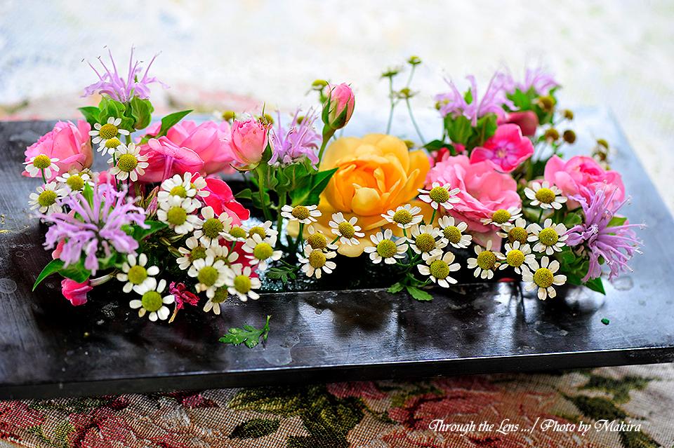 テーブル花1