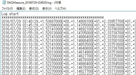 TeraTerm連続測定7