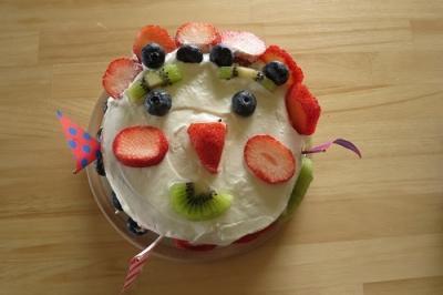 親子レッスン。いちごのショートケーキ!