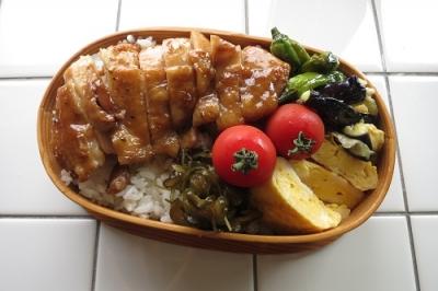 鶏肉の黒酢照り焼き弁当