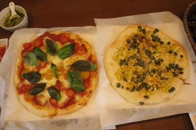 マルゲリータ&枝豆コーンマヨチーズ