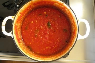 トマトソース完成