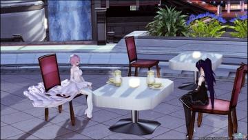夜のお茶会?
