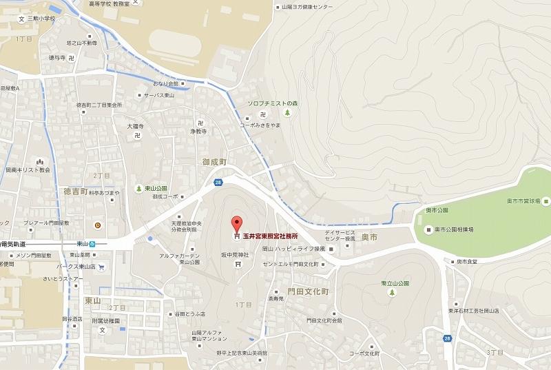 玉井宮地図