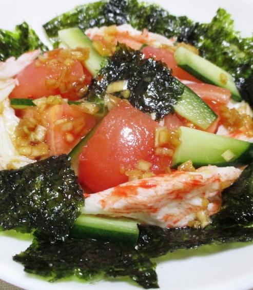 韓国海苔サラダ 大