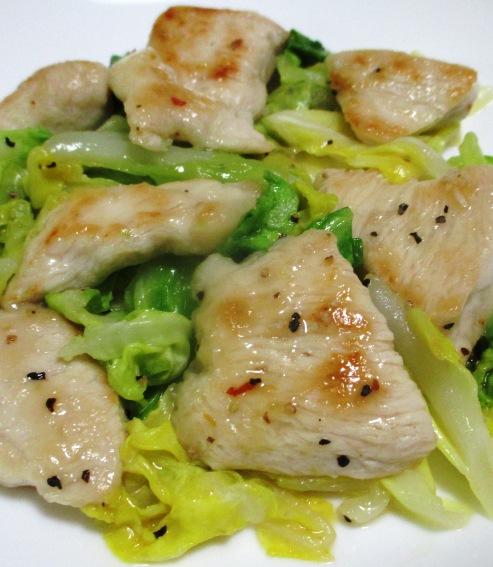 春キャベツと鶏むね肉のペパーソテー B