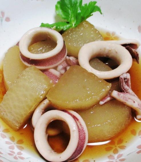 イカと大根の煮物 B