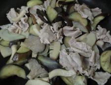 豚肉とナスのポン酢炒め 調理④