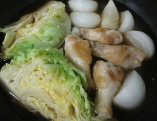 春キャベツと新玉ねぎの煮物 調理⑤