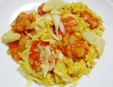 海老と卵の炒め物 調理⑥