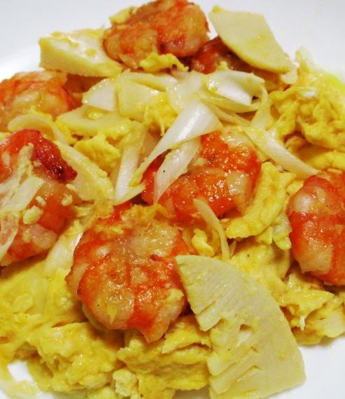 海老と卵の炒め物 B