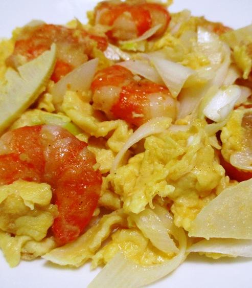 海老と卵の炒め物 大