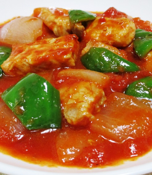 豚ロースのトマト煮 B