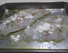 タラのハープソテー 調理①