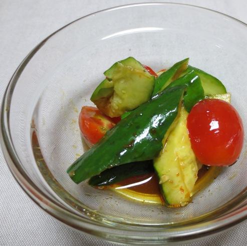 たたききゅうりとミニトマト B