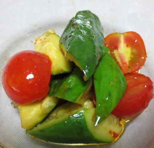 たたききゅうりとミニトマト 大