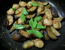 ホタテとナスのしょうが醤油炒め 調理⑥
