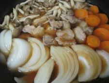 鶏もも肉と新玉ねぎの甘辛煮 調理⑤
