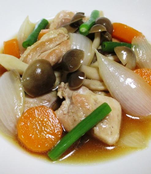 鶏もも肉と新玉ねぎの甘辛煮 B