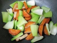 青梗菜さつま 調理①
