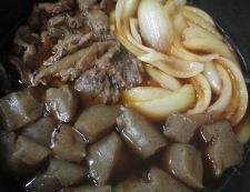 牛すじと新玉ねぎの煮物 調理⑥
