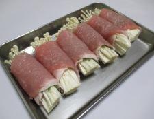 豚ロースの梅しそエノキ巻き 調理④